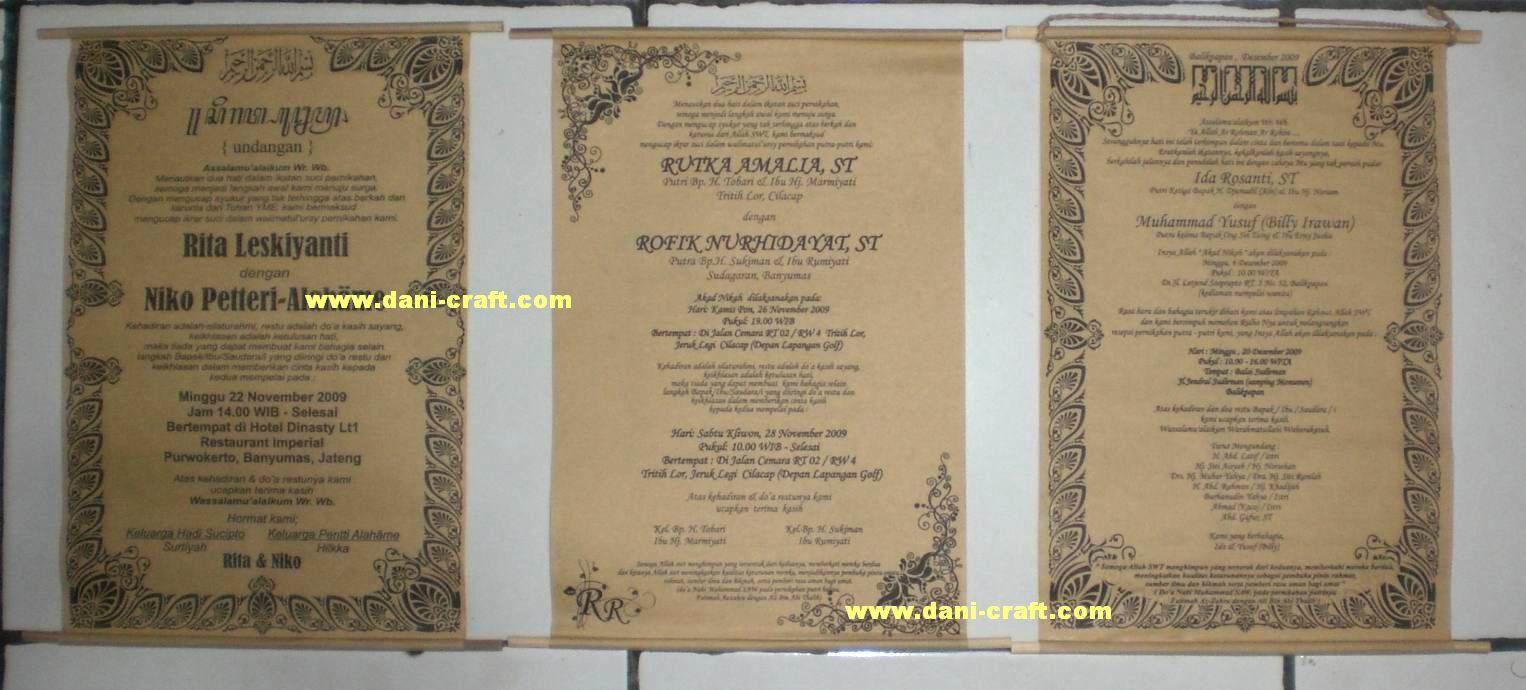 contoh-contoh undangan pernikahan bagian depan
