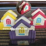 Souvenir Rumah tempat Kartu Nama (P12)