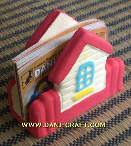 souvenir rumah tempat kartu nama