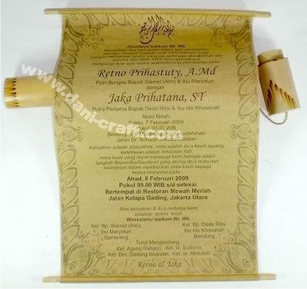 Undangan Gulung Undangan Gulung Bambu Undangan Pernikahan