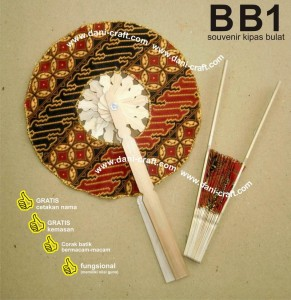 souvenir kipas batik bulat