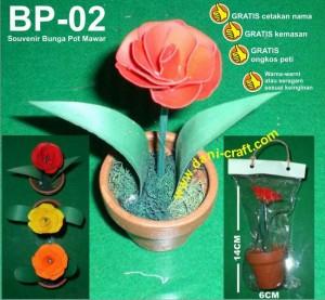 souvenir bunga kering mawar