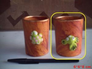 souvenir gelas warna kayu