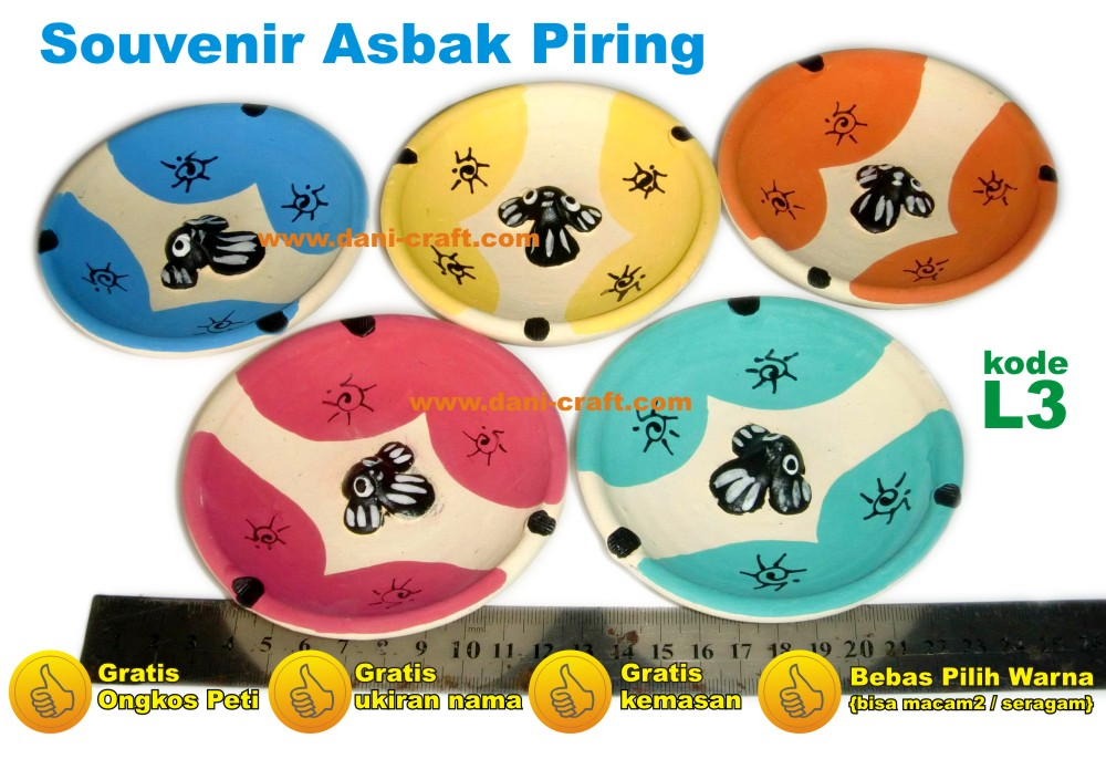 Souvenir Asbak Piring L3
