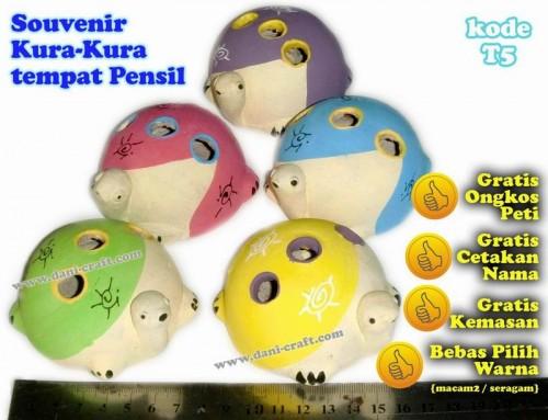 souvenir kura-kura tempat pensil