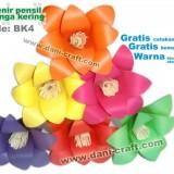 souvenir pensil bunga kering daun lontar