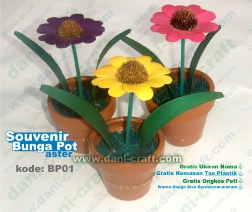 pot bunga souvenir