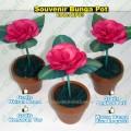 souvenir bunga pot mawar keriting