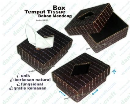 Box Tempat Tissue Bahan Mendong