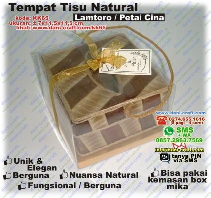 box natural lamtoro tempat tisu