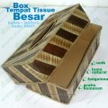 box tempat tissue besar natural