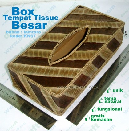 box tempat tissue natural besar