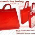 souvenir tas furing puring warna merah TP2