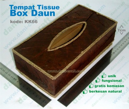 souvenir tempat tissue box daun