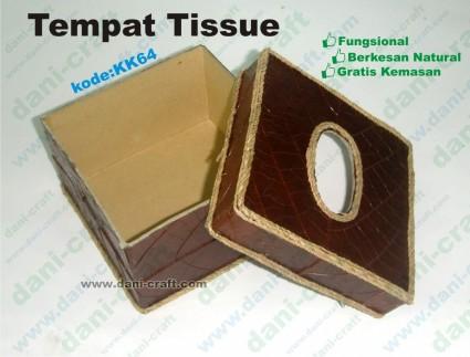 souvenir tempat tissue kotak daun