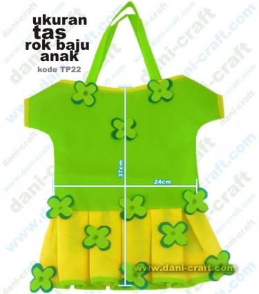 tas rok baju spunbond, ukuran