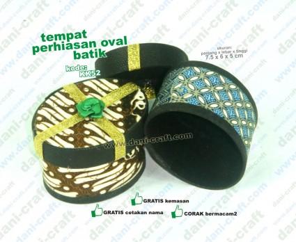 tempat perhiasan oval batik souvenir