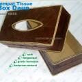 tempat tissue box daun souvenir