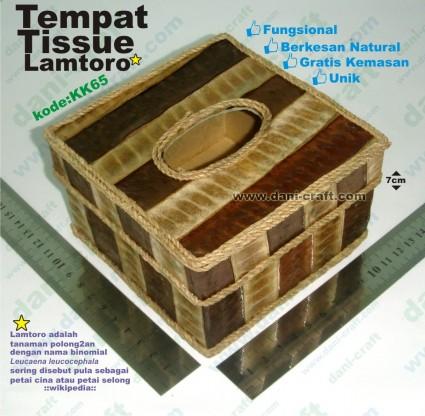 tempat tissue kotak lamtoro