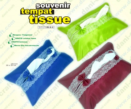tempat tissue souvenir