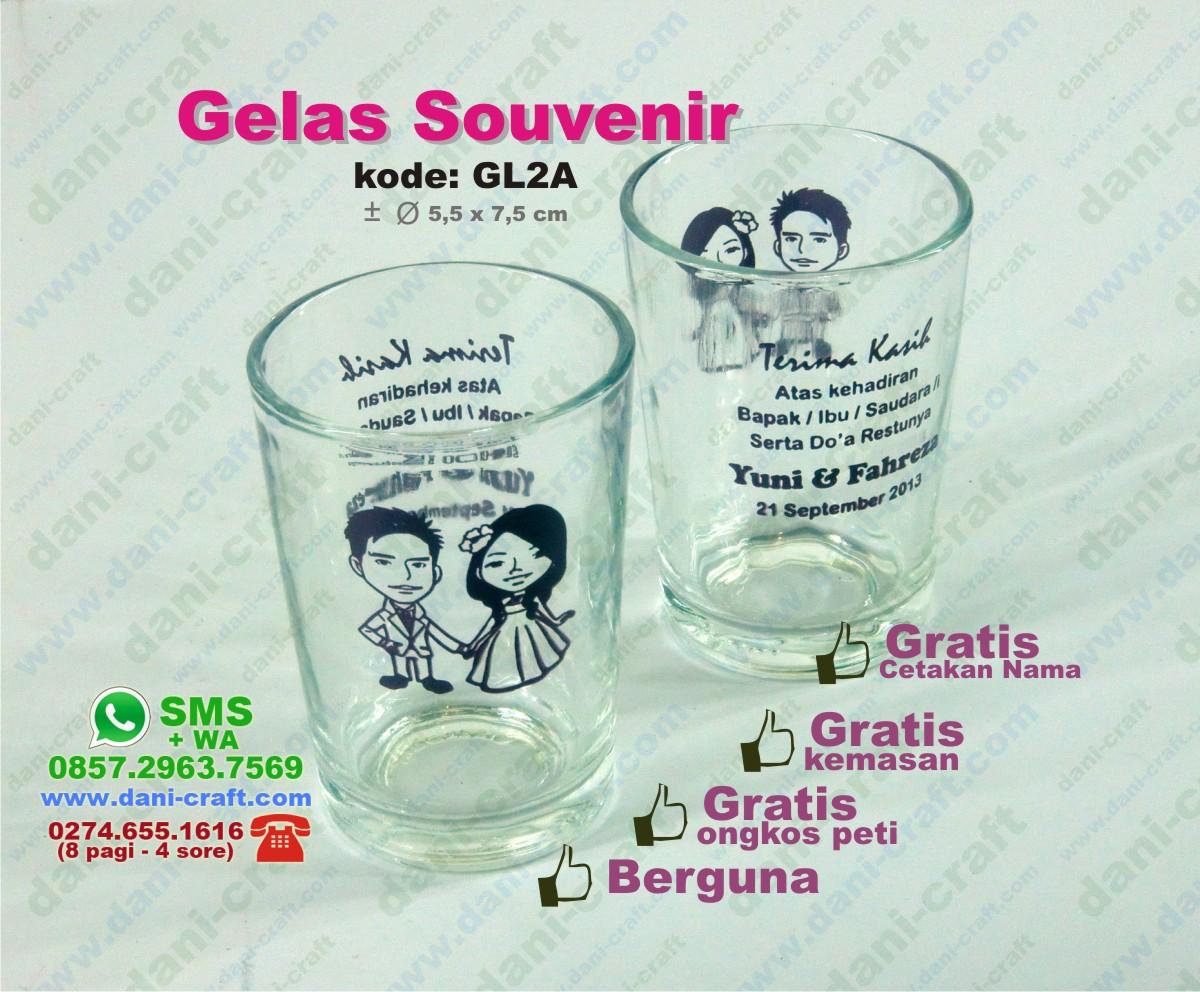 souvenir gelas pernikahan