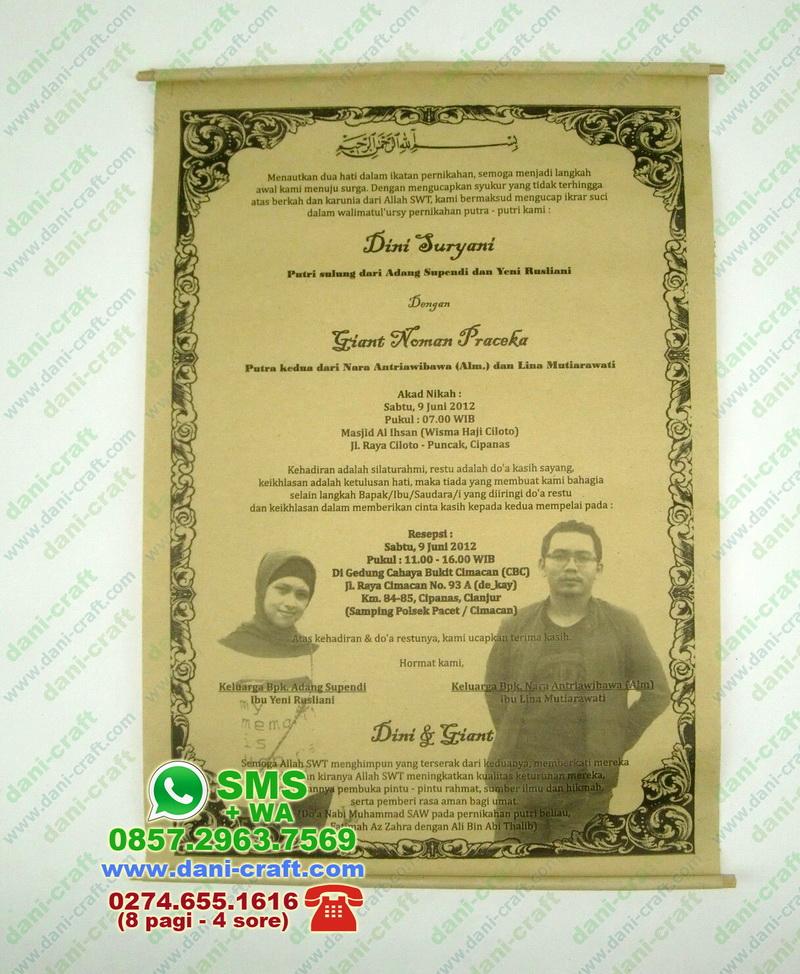 Undangan Gulung Murah (UGM) Undangan Pernikahan Murah