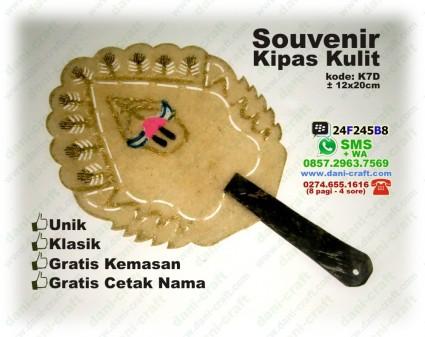 souvenir kipas kulit