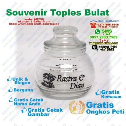souvenir toples kaca murah