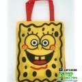 tas karakter kartun sponge bob square pants