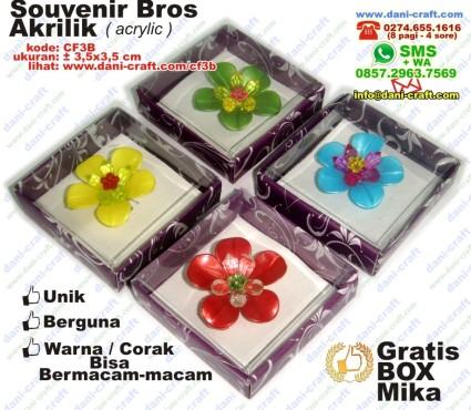 bros akrilik acrylic souvenir bros