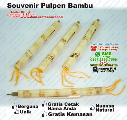pulpen bambu souvenir