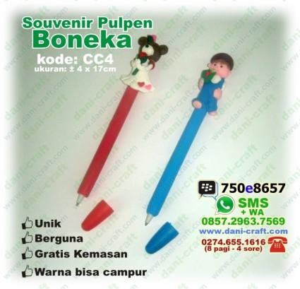 pulpen boneka souvenir