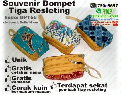 souvenir dompet 3 resleting