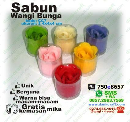souvenir sabun wangi bunga