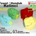 souvenir towel kelinci handuk