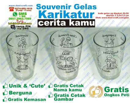 souvenir gelas cerita sendiri