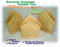 Tempat Tisu Anyaman Bambu