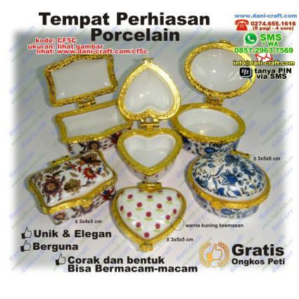 tempat perhiasan porcelain
