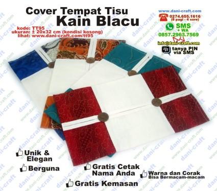 tempat tisu kain blacu batik