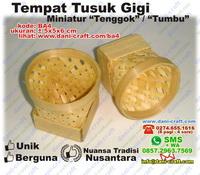 Tempat Tusuk Gigi Anyaman Bambu