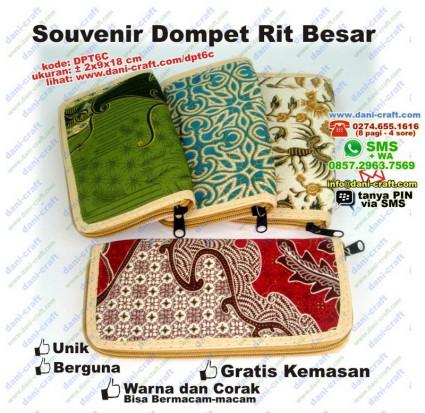 souvenir dompet resleting besar batik