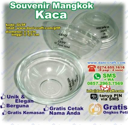 souvenir mangkok kaca