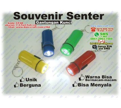 souvenir senter gantungan kunci