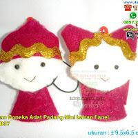 Boneka Pasangan Pengantin Adat Padang Gantungan Kunci