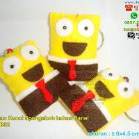 Gantungan Kunci Spongebob Flanel