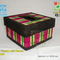Kotak tempat Tisu Lidi Warna