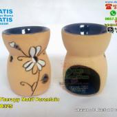 Tungku Aroma Therapy Motif Porcelain