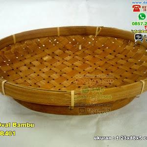 Piring Oval Bambu Anyaman