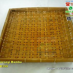 Piring Persegi Anyaman Bambu