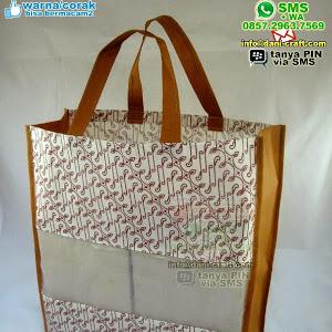 Souvenir Tas Puring Batik Kombinasi Tengah Organdi